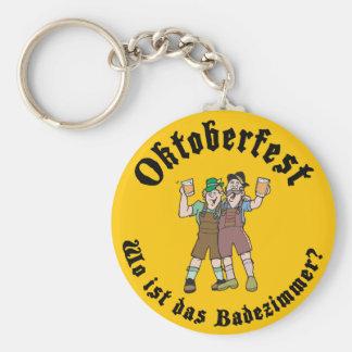 Oktoberfest divertido donde está el cuarto de baño llavero personalizado
