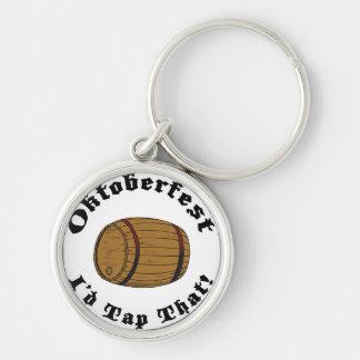 Oktoberfest divertido golpearía ligeramente eso llavero personalizado
