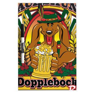 Oktoberfest Dopplebock Dachshund Dry Erase Board