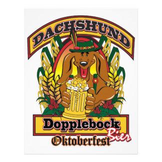 Oktoberfest Dopplebock Dachshund Customized Letterhead