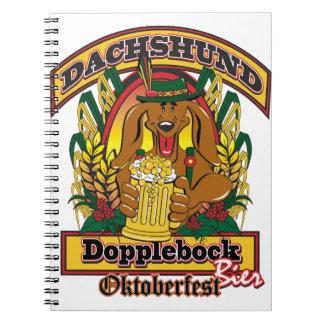 Oktoberfest Dopplebock Dachshund Notebook