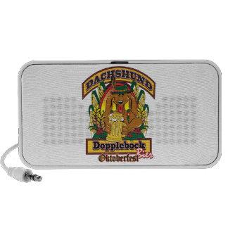 Oktoberfest Dopplebock Dachshund PC Speakers