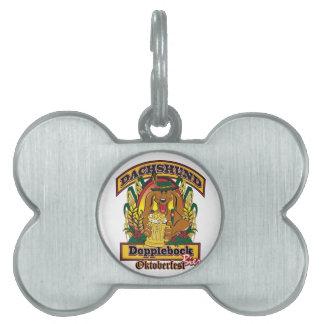 Oktoberfest Dopplebock Dachshund Pet ID Tag