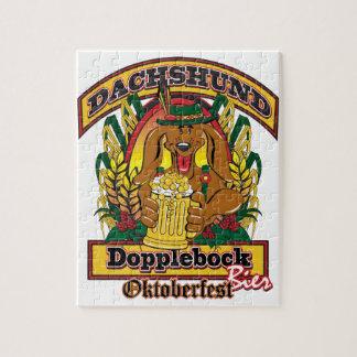 Oktoberfest Dopplebock Dachshund Puzzle