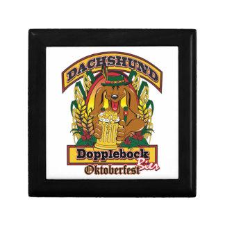 Oktoberfest Dopplebock Dachshund Trinket Box