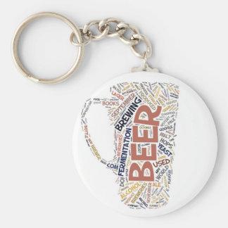 Oktoberfest Drinking Basic Round Button Keychain