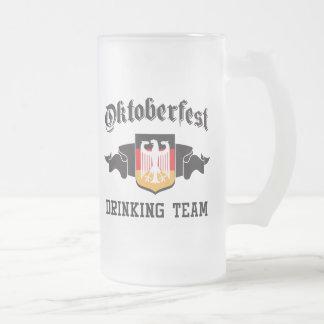 Oktoberfest drinking team 16 oz frosted glass beer mug