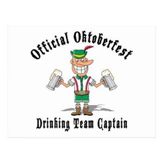Oktoberfest Drinking Team Captain Gift Postcard