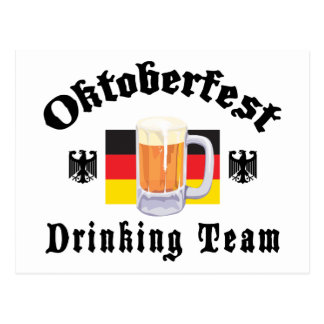 Oktoberfest Drinking Team Gift Postcard