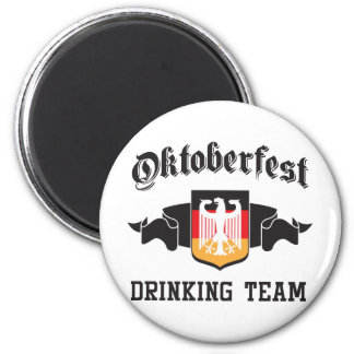 Oktoberfest drinking team magnet