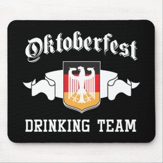 Oktoberfest drinking team mouse pad