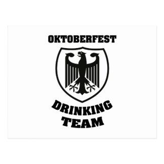 Oktoberfest Drinking Team Postcard