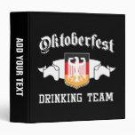 Oktoberfest drinking team vinyl binder