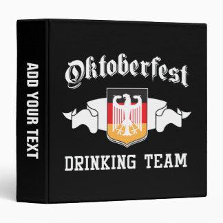 Oktoberfest drinking team vinyl binders