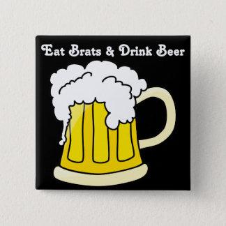 Oktoberfest Eat Brats & Drink Beer 2 Button