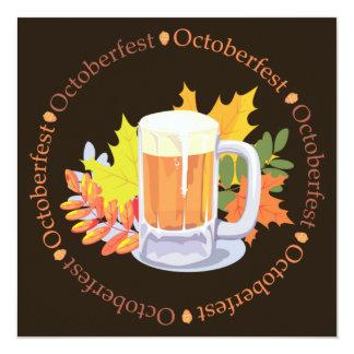 Oktoberfest en la invitación redonda invitación 13,3 cm x 13,3cm