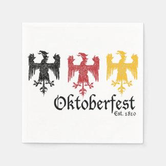 Oktoberfest Est. 1810 servilletas de papel fijadas