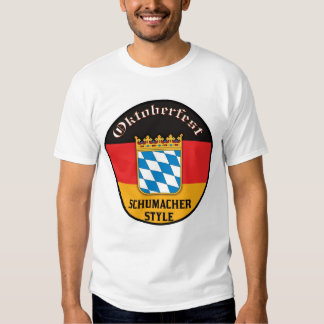 Oktoberfest - estilo de Schumacher Playeras