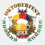 Oktoberfest Etiquetas Redondas