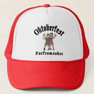 Oktoberfest Far From Sober Trucker Hat