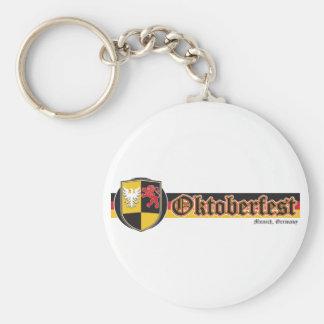 Oktoberfest-Fest-Banner Basic Round Button Keychain