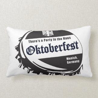 Oktoberfest Fest Bottle Cap Throw Pillow