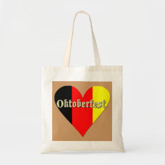 Oktoberfest Festival On Flag Heart Bag at Zazzle