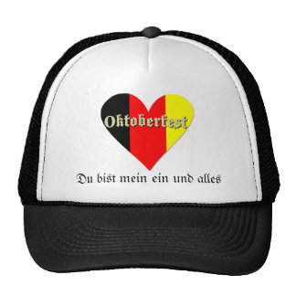 Oktoberfest Festival on Flag Heart Hat