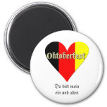 Oktoberfest Festival on Flag Heart Refrigerator Magnets