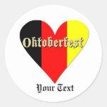 Oktoberfest Festival on Flag Heart Sticker