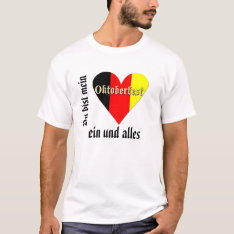 Oktoberfest Festival On Flag Heart T-shirt at Zazzle