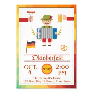 "Oktoberfest festivo invitación 5"" x 7"""