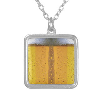 Oktoberfest Foaming Beer Silver Plated Necklace