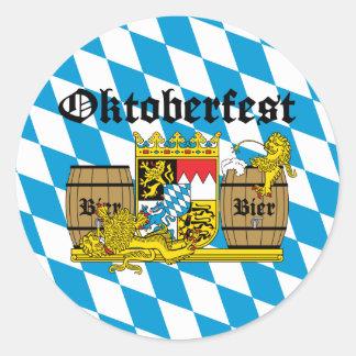 Oktoberfest - From Leon drunkards Classic Round Sticker