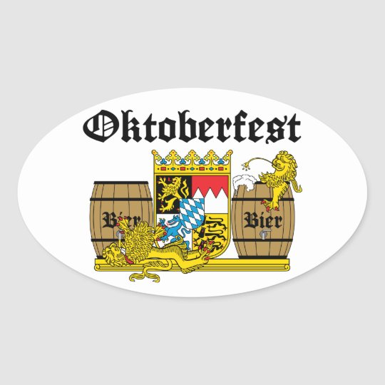 Oktoberfest - From Leon drunkards Oval Sticker