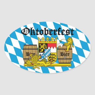 Oktoberfest - From Leon drunkards Oval Sticker