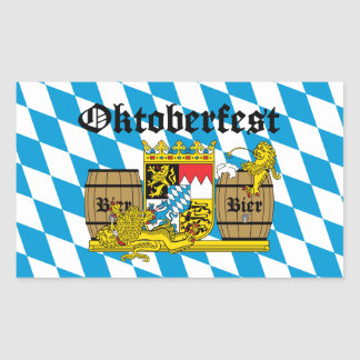 Oktoberfest - From Leon drunkards Rectangular Sticker