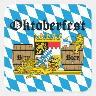 Oktoberfest - From Leon drunkards Square Sticker