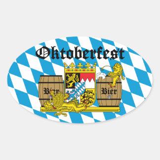Oktoberfest - From Leon drunkards Oval Stickers