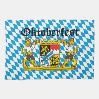 Oktoberfest - From Leon with beer Hand Towels
