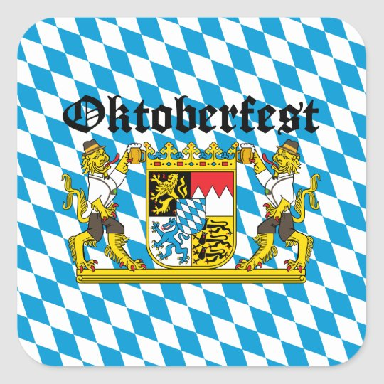 Oktoberfest - From Leon with beer Square Sticker