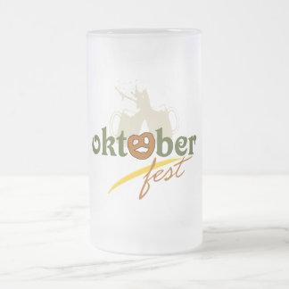 Oktoberfest Frosted Glass Beer Mug