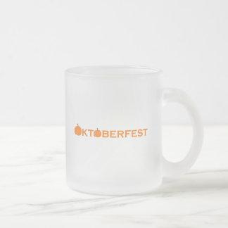 Oktoberfest Frosted Glass Coffee Mug