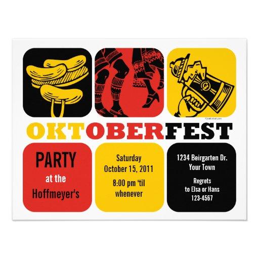 Oktoberfest Fun Party Invitation