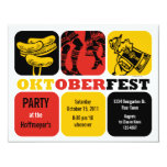 """Oktoberfest Fun Party Invitation 4.25"""" X 5.5"""" Invitation Card"""