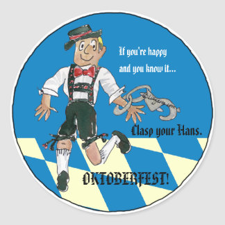 Oktoberfest Funny Stickers Personalized Labels