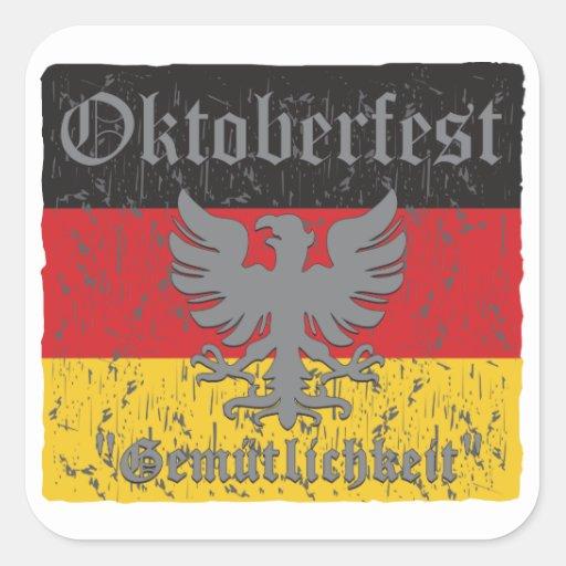 Oktoberfest Gemutlichkeit Square Sticker