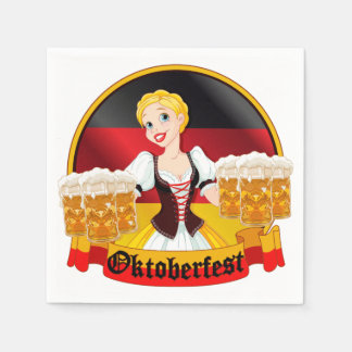 Oktoberfest German Bar Maid Napkin