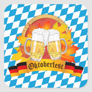 Oktoberfest German Beer Festival Square Sticker