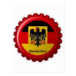 OKTOBERFEST GERMAN BOTTLECAP DESIGN POSTCARD